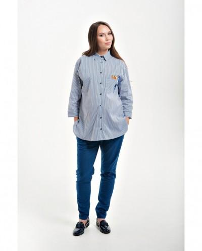 Оверсайз рубашка для беременных с принтом