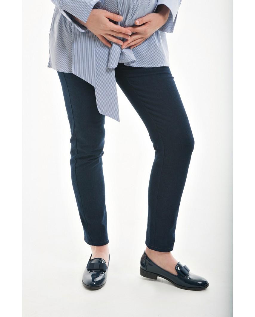 """Джинсы """"стрейтч"""" для беременных с удобной резинкой под растущий животик (синий)"""