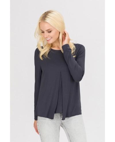 Блуза Верба (антрацит)