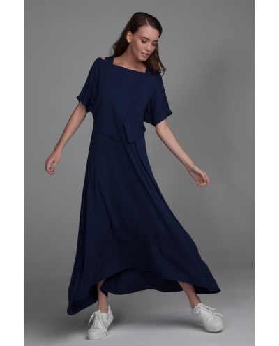 Платье Ласточка (темно-синее)