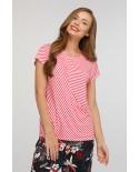 Блуза  Шанталь (коралловая полоска)