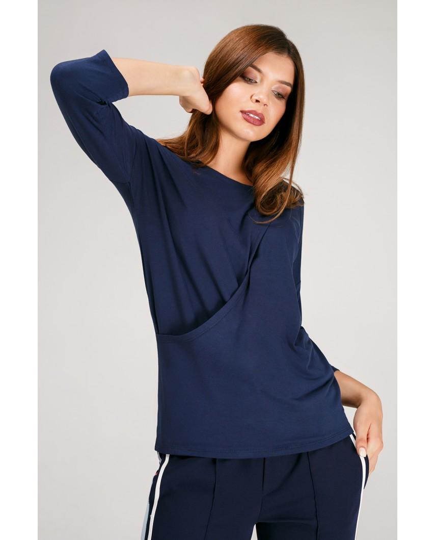 Блуза Платина (темно-синяя)