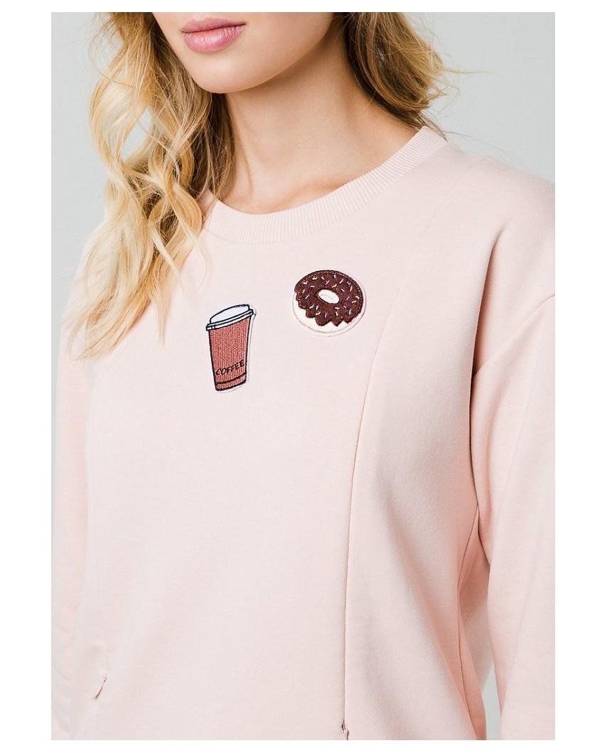 Свитшот для кормления (Coffee+donut)